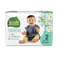 Seventh Generation Baby Diapers With Animal Prints Size 2, 12-18 Lbs