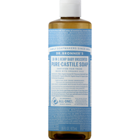 Dr. Bronner's Soap, Pure-Castile, 18-in-1 Hemp, Baby, Unscented