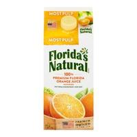 Florida's Natural 100% Premium Florida Orange Juice Most Pulp