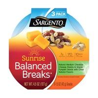Sargento® Sunrise Balanced Breaks® with Medium Cheddar Cheese, Maple-Flavored Pumpkin Seeds and Raisins