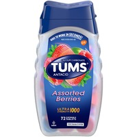 Tums Ultra Strength 1000 Assorted Berries Chewable Tablets Antacid