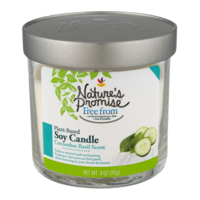 Nature's Promise Cucumber Basil Candle