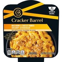 Cracker Barrel Sharp Cheddar Macaroni & Cheese Single Bowl Dinner
