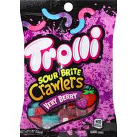 Trolli Gummi Candy, Very Berry, Sour Brite Crawlers