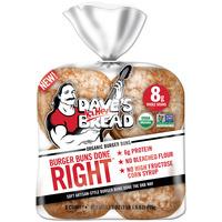 Dave's Killer Bread Burger Buns Done Right Organic Burger Buns