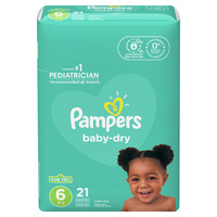 Pampers Baby Dry Diapers, Size 6 (35+ lb)