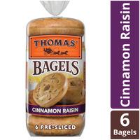 Thomas Cinnamon Raisin Pre-Sliced Bagels