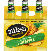 Mike's Hard Lemonade Beer, Hard Lemonade, Pineapple, 6 Pack