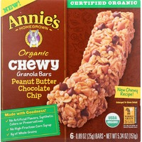Annie's Homegrown Peanut Butter Chocolate Chip Organic Chewy Granola Bar