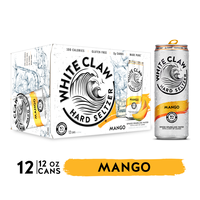 White Claw Hard Seltzer, Mango, Spiked, 12 Pack