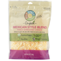 Full Circle Mexican Style Blend Of Organic Colby Jack, White Cheddar And Monterey Jack Finely Shredded Cheese