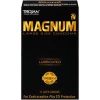 Trojan Magnum Lubricated Large Size Latex Condoms