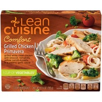 Lean Cuisine Comfort Grilled white meat chicken with asparagus, broccoli, tomatoes & pasta in a creamy garlic sauce Grilled Chicken Primavera