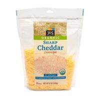 365 Organic Shredded Sharp Cheddar