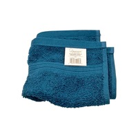 Interiors By Design Feather Touch Teal Washcloth