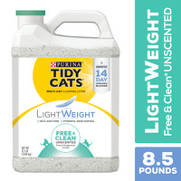 Purina Tidy Cats Low Dust, Clumping Cat Litter, LightWeight Free & Clean Unscented, Multi Cat Litter