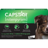 Capstar New Flea Treatment for Dogs Over 25 Pounds