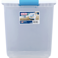 Sterilite Latching Box, White, 25 Quart