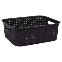 Sterilite Storage Basket, Espresso, Weave
