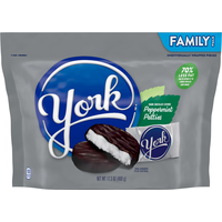 YORK Peppermint Patties, Dark Chocolate Covered, Family Pack
