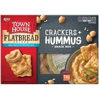 Townhouse Flatbread Crisps Sea Salt & Olive Oil Crackers + Hummus Snack Box