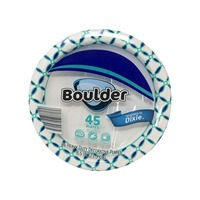 Boulder Decorated Paper Plate  sc 1 st  Instacart & Boulder 8.5 in. Heavy Duty Decorative Paper Plates (45 ct) from ALDI ...