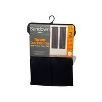 """Eclipse 63"""" Sundown Black Room Darkening Curtains"""