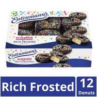 Entenmann's Party Mini Sprinkled Rich Frosted Donuts