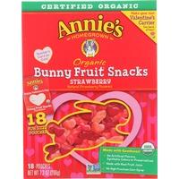 Annie's Homegrown Organic Bunny Fruit Snacks Strawberry Fruit Snacks