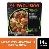 Life Cuisine Meatless Meatballs Pasta Bowl Frozen Meal
