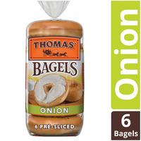 Thomas' Onion Soft & Chewy Pre-Sliced Bagels