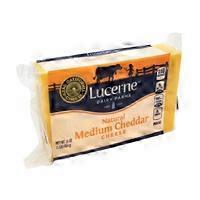 Lucerne Natural Medium Cheddar Cheese